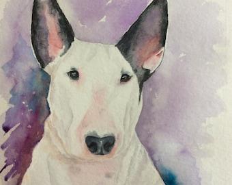 Custom pet portrait Bull Terrier