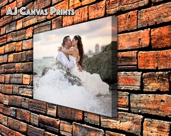Personalized wedding canvas photo print