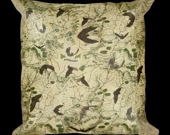 Transylvania Map Pillow - Square Pillow with Pillow Insert