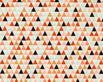 Multi-color triangle crib sheet, Changing pad cover, Crib skirt