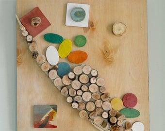 3D Wood Wall Art | reclaimed wood mosaic | original wall art | wood wall art |