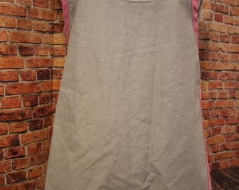 Children's Size Gray and Light Pink Apron