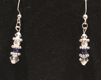 Swarovski Crystal and Pearl Bead Drop Earrings (#7826)
