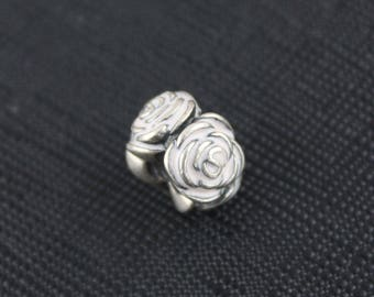 New Authentic Pandora Charm Bead Pink Rose Garden 791291EN40