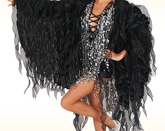 Organza Flame Jacket - Flame Dream -  Cabaret Jacket, Flame Jacket, Organza Coat, Wing Jacket, Drag Queen Costume, Costume de Organza