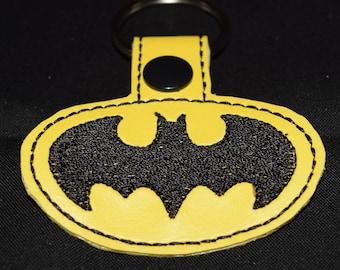 Batman Inspired keyfob keychain bag tag zipper pull