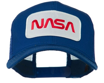 NASA Logo Embroidered Patched Mesh Back Cap