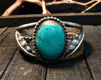 Vintage Native American Sterling SilverCuff Bracelet  #243
