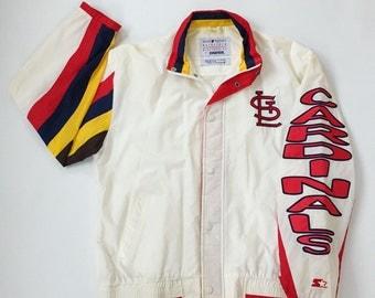 Vintage St Louis Cardinals Windbreaker Size Medium Jacket Coat Hoodie Baseball MLB