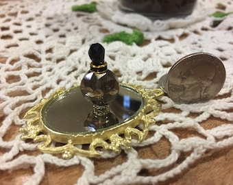 Miniature Perfume Bottle, Dollhouse Miniature, Miniature Liquor Bottle, Dollhouse Accessories, Miniatures, Handmade