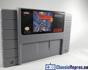 Super Turrican 2 - Super Nintendo Reproduction Game - USA Version - Free US Shipping