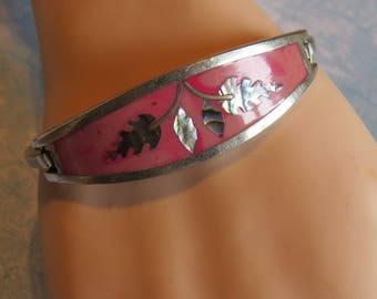 Vintage Abalone Inlay Bracelet