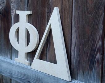 greek letters wooden greek letter custom greek letter sorority letters fraternity letters wood greek letters decor 12