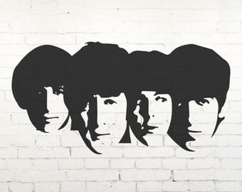 The Beatles Mural Vinyl Wall Decal, Sticker, Transfer, Stencil