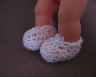 shoes for doll foot 3 cm / 1,2 inch nutka_art,handmade,doll clothes,crochet,slippers,boots,booties,Baby Born,Newborn doll, Reborn, Berenguer