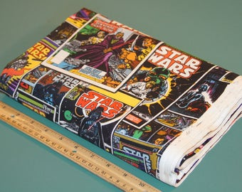 2 Yards Star Wars Comic Book Covers Cotton Fabric NEW