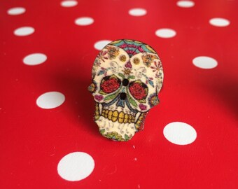Tattoo Skull ring