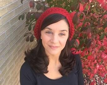 Crochet red slouchy hat, crochet red hat, slouchy hat women, winter hat, red beanie, crochet beanie, red beret, wine slouchy hat, wine beret