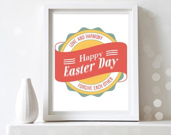 Easter Print Wall Art Easter Quote Print Printable Easter Poster Wall Decor Easter Sign Easter Gift Spring Print Home Decor Digital Download