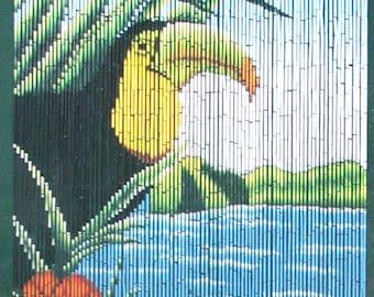 Tucan Bamboo Beaded Curtain