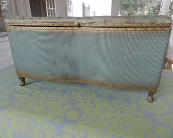 Beautiful French Upholstered Trunk