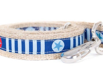Dog collar / leash of STARS 'N' STRIPES BLUE