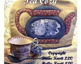 Appliqued, Quilted Tea Cozy Pattern Download by Diane Knott LLC & Holly Knott LLC