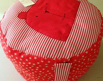 Children's Pouffee Cushion with Teddy Bear Face for Boys or Girl Gift