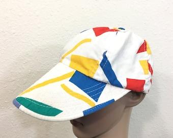80's vintage jams all over print cotton cap hat