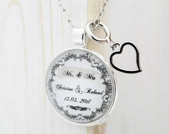 Personalized necklace in about 46cm