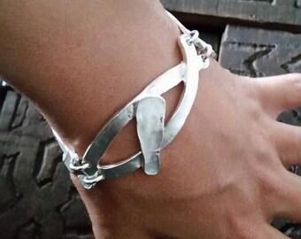 Abstract bracelet, modernist bracelet, unusual bracelet, chain bracelet, bracelet, bangle bracelet modern contemporary artistic bracelet