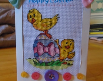 Happy Easter Chicks - Cross stitch Pattern - Dowmload