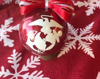 US Marine Ornament, Military ornament, Marine Gifts, US Marines, marine support, marine wife, US Marine gift, marine mom, marine love