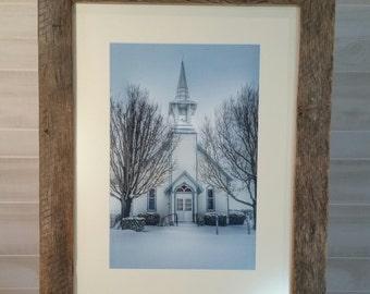 Chapel in Snow, Church in Snow, Church Print, Church Snow Print, Chapel Snow Print, Chapel, Church, Shenandoah Church, Shenandoah Chapel,