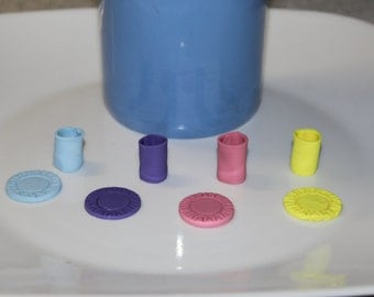Barbie Colorful Cups & Plates (8pc) ~ Barbie Accessories