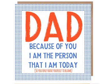 Funny Fathers Day Card • Dad Card • Dad Birthday • Dad Humour • Fathers Day Card