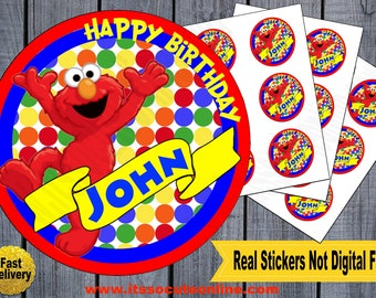 Elmo Sticker/Elmo Birthday/Elmo Invitations/Elmo Thank you card/Elmo Party/Elmo/Sesame Street Stickers/Sesame Street Birthday/Sesame Street