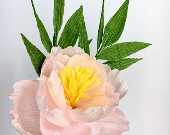Pink Peony Bouquet - Paper Flowers
