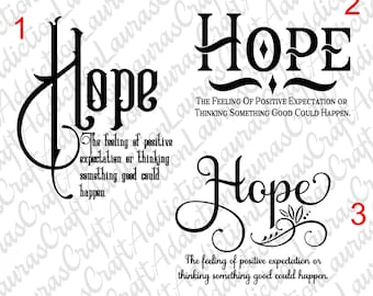 3 Hope, cut files, Hope cut file, Inspirational svg, Hope svg, Hope sign, Awareness svg, Sayings svg, cancer svg, svg, Cricut, Silhouette,