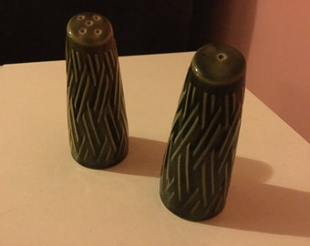Vintage green 60's salt and pepper shakers in great condition