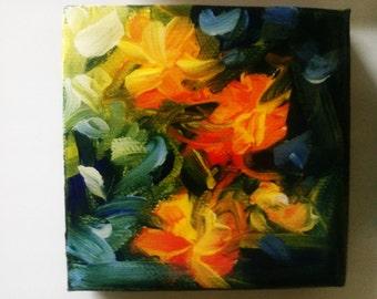 Colourful Fridge Magnet, Original Painting- Hand Painted