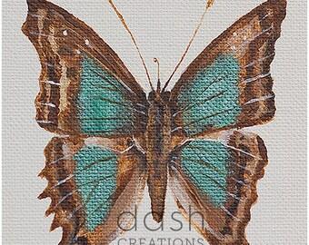 Taxidermy Inspired Butterfly Print - Cherubina Emperor (Doxocopa Laurentia)