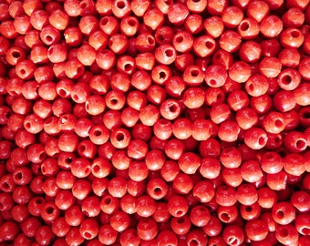 5000 Vintage Czech Red 5mm Glass Beads