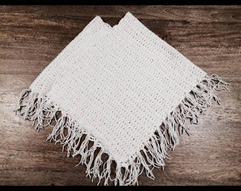 Handmade Crochet Girls Poncho