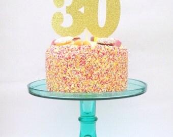 30 cake topper, cake topper, glitter cake topper, 30 cake decoration, cake decoration, thirty party decor, 30, thirty