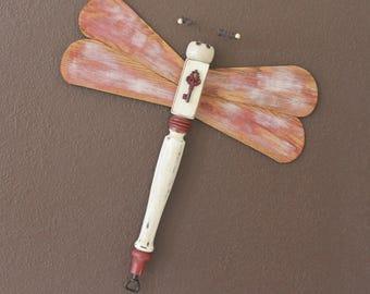 Wooden Table Leg Dragonflies - Indoor or Outdoor Dragonfly