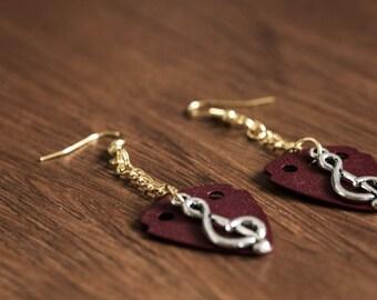 Guitar Pick Earrings (Red)