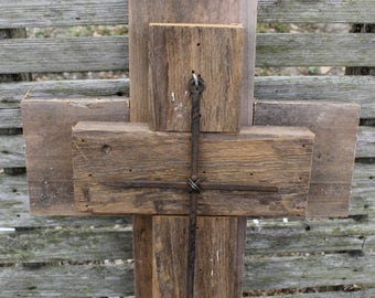 wooden cross, unique wall cross, decorative wall crosses, rustic cross, wall decor, reclaimed wood, cross wall decor, reclaimed wood