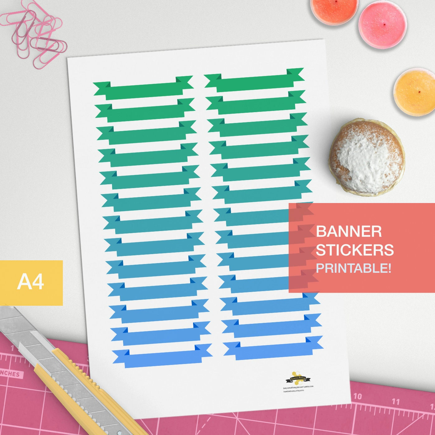 Banner stickers for your planner decorating printable for Planner decorating blogs