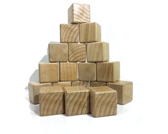 Block baby from 9 to 18 cubes of construction, size large wood block
